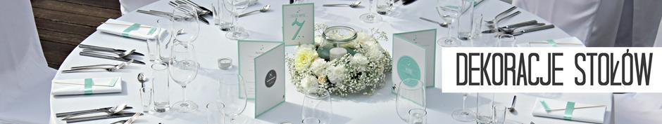kwiaty i dekoracje stołów na wesele